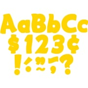 """Teacher Created Resources 4"""" Yellow Gold Funtastic Letters Combo Pack (TCR5819)"""