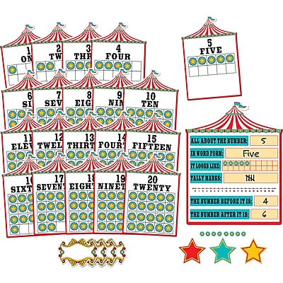 Teacher Created Resources Carnival Numbers 0-20 Bulletin Board 6 panels (TCR5710)