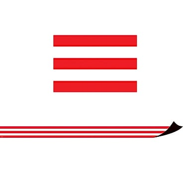 Teacher Created Resources Red & White Stripes Magnetic Border (TCR77232)