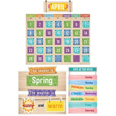 Creative Teaching Press Upcycle Style Calendar Bulletin Board Set (CTP7061)