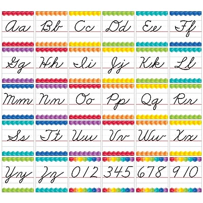 Creative Teaching Press Cursive Handwriting Alphabet Bulletin Board Set Painted Palette (CTP7056)