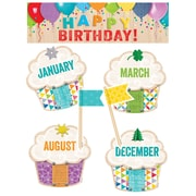 Creative Teaching Press Happy Birthday! Mini Bulletin Board Set Upcycle Style (CTP0599)