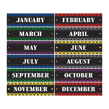 Teacher Created Resources Plaid Monthly Headliners (TCR5699)