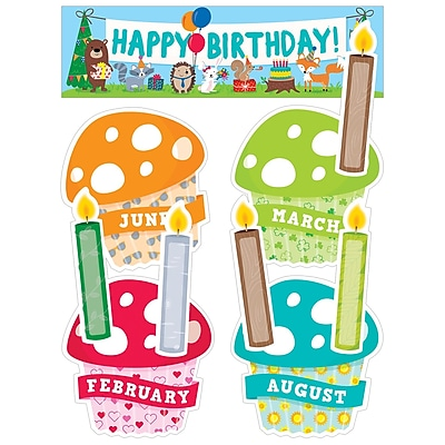 Creative Teaching Press Happy Birthday Mini Bulletin Board Set Woodland Friends (CTP1758)