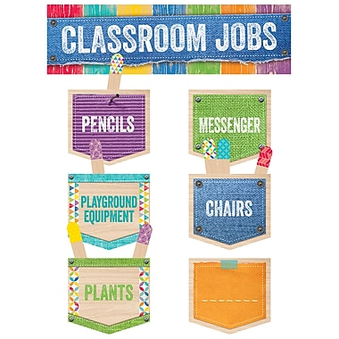Creative Teaching Press Classroom Jobs Mini Bulletin Board Set, Upcycle Style, 15/Set (CTP0600)