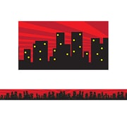 "Teacher Created Resources 35' x 3"" Superhero Cityscape Straight Border Trim (TCR5831)"
