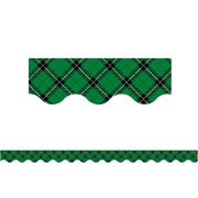 "Teacher Created Resources 35"" x 2.18"" Green Plaid Scalloped Border Trim (TCR5661)"