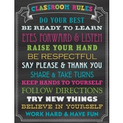 "Teacher Created Resources 22 x 17"" Chalkboard Brights Classroom Rules Chart (TCR7565)"