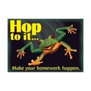 "Argus® 19 x 13"" Hop to it... Make your homework Poster (T-A67054)"