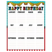 "Teacher Created Resources 22 x 17"" Carnival Happy Birthday Chart (TCR7571)"