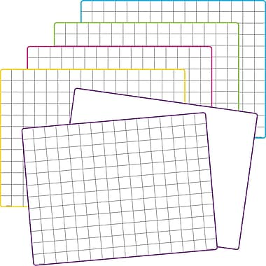 Teacher Created Resources Math Grid Dry Erase Boards, 10/Pack (TCR77253)