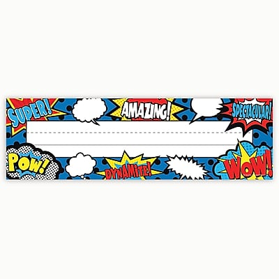 Teacher Created Resources, Superhero Flat Name Plates, Pack of 36 (TCR5588)