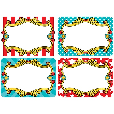 Teacher Created Resources Carnival Name Tags/Labels Multi-Pack, Pack of 36 (TCR5709)