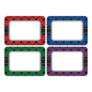 Teacher Created Resources Plaid Name Tags/Labels Multi-Pack, Pack of 36 (TCR5665)