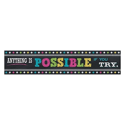 Teacher Created Resources Chalkboard Brights Anything Is Possible Banner 8