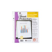 Charles Leonard Clear Economy Sheet Protectors, 12 Count of 15 Protectors Per Order