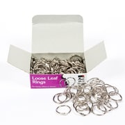 "Charles Leonard Loose Leaf Rings Nickel Plated, Finish, Silver,3/4"" Diameter, 2 Boxes of 100 Rings  (CHLR19)"