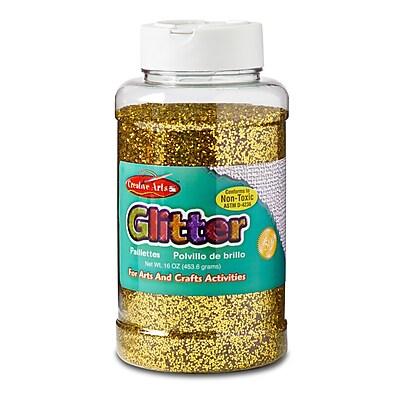 Charles Leonard Gold Glitter Ages 3+, 3 Count of 16 Oz Bottle (CHL41170)