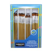 Sargent Art Flat Brush Ages 3+, Set of 40 Brushes Per Order (SAR563102)
