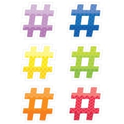 "Creative Teaching Press 6"" Hashtags, Assorted Colors (CTP6501)"