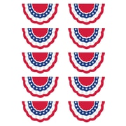 """Teacher Created Resources 7 x 4"""" Patriotic Bunting, Multi-Colored (TCR5895)"""