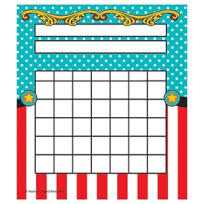 Teacher Created Resources Carnival Incentive Charts Multi-Colored 36 Charts Per Pack (TCR5717)