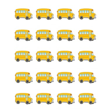 Teacher Created Resources School Bus Stickers Yellow 120 Stickers Per Pack (TCR5651)