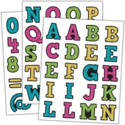 Teacher Created Resources Chalkboard Brights Alphabet Stickers Assorted Colors 120 Stickers Per Pack (TCR5017)