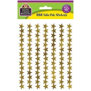 Teacher Created Resources Foil Star Stickers Gold 686 Mini Stickers Per Pack (TCR5799)