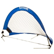 Champion Sports 30x18 Aluminum and Nylon Soccer Goal. Blue and White, (CHSSG3018)