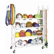 Champion Sports PVC Pipe  Equipment Cart. White, (CHSPECART)