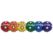 Champion Sports Rubber Cover Size 4 Soccer Ball Set of 6 Balls (CHSSRB4SET)