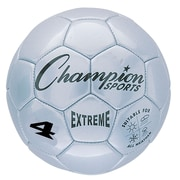 Champion Sports Extreme Size 4 Silver Soccer Ball  (CHSEX4SL)