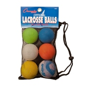 Champion Sports Lacrosse Ball Set, Set of 6 Balls (CHSLBSET)