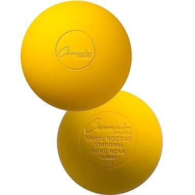 Champion Sports – Balles de crosse jaunes, 12/paquet (CHSLBY)