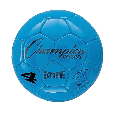 Champion Sports Extreme Size 4 Blue Soccer Ball (CHSEX4BL)