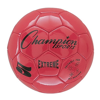 Champion Sports Extreme Size 5 Red Soccer Ball (CHSEX5RD)