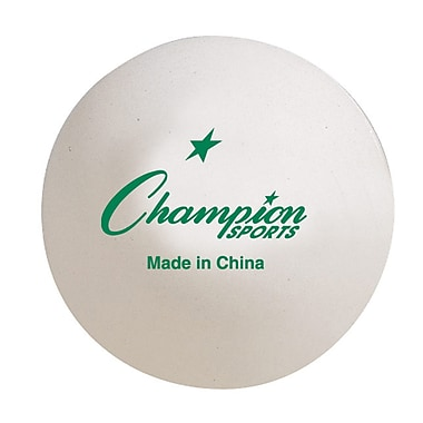 Champion Sports Tournament Table Tennis Balls, 6 Count of 6 Balls (CHS1STAR)