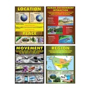 McDonald Publishing Exploring 5 Themes Geography, Cardstock Posters, Grades 4-6 (MC-P064)