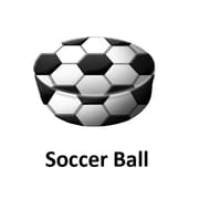 Senseez Soccer Ball Pillow Soccer Ball Pattern Vibrating, 1 Pillow (SSZ90422)