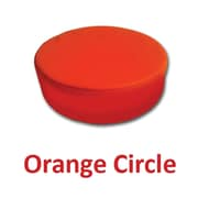 Senseez Orange Circle Pillow Orange Vibrating, 1 Pillow (SSZ58704)