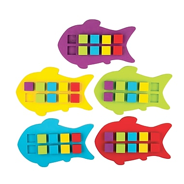 Teacher Created Resources Magnetic Foam Fish Ten Frames, 55 Pieces/Pack (TCR20674)