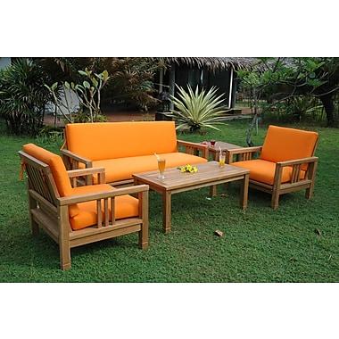 Anderson Teak South Bay 5 Piece Deep Seating Group w/ Sunbrella Cushions
