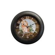 Rightside Design 18'' Woodland Owl Wall Clock