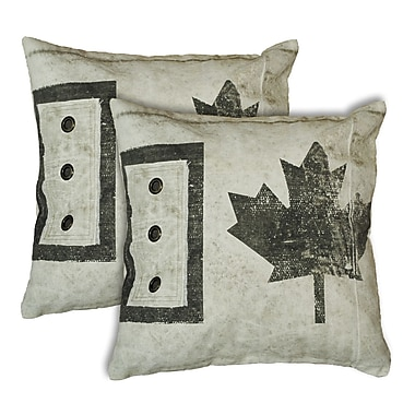 Dynamic Rugs Cotton Canvas Throw Pillow (Set of 2)