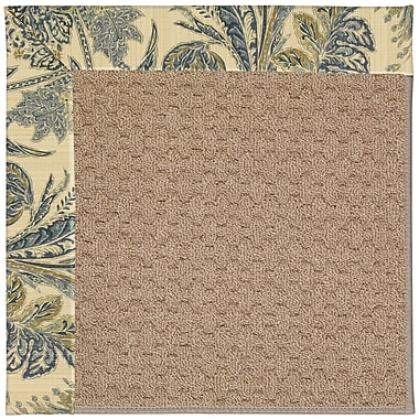 Capel Zoe Grassy Mountain Machine Tufted High Seas/Brown Indoor/Outdoor Area Rug