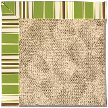 Capel Zoe Machine Tufted Green/Brown Indoor/Outdoor Area Rug; Rectangle 5' x 8'