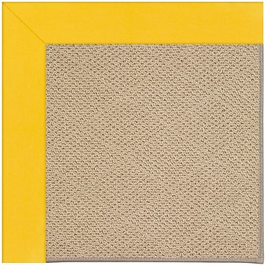 Capel Zoe Machine Tufted Summertime Yellow Indoor/Outdoor Area Rug; Round 12' x 12'