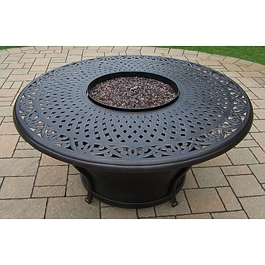 Oakland Living Charleston Round Gas Firepit Table