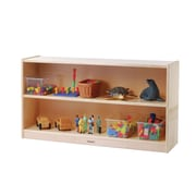 Constructive Playthings Two Level Low Shelving Unit w/ Casters